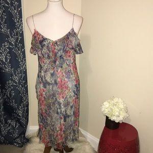 Vince.  Silk Floral Slip Dress